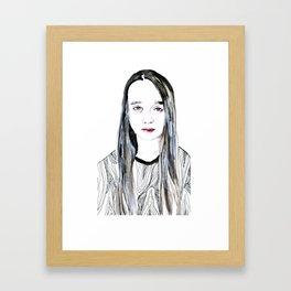 Into My Eyes Framed Art Print