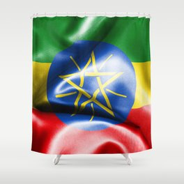 Ethiopia Flag Shower Curtain
