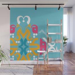 Blue Arabic Wall Mural