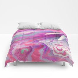 Loud Silence Glitched Fluid Art Comforters