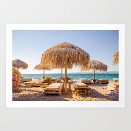 beach bummed Art Print