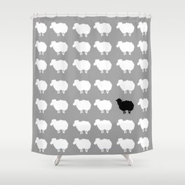 Black sheep Shower Curtain
