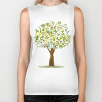 tree of life Biker Tanks featuring Life tree by Michelle Behar