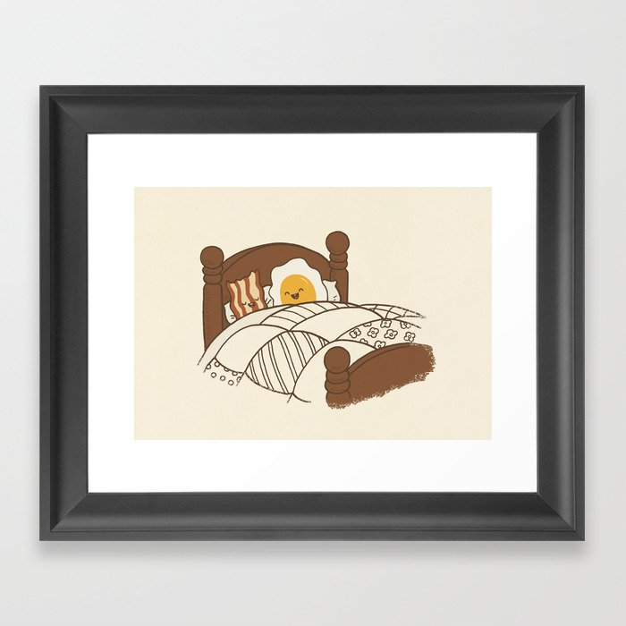 Breakfast In Bed  Framed Art Print