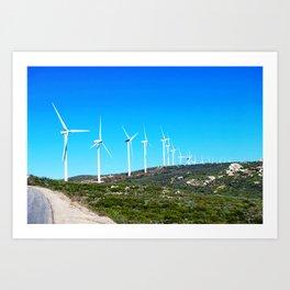 Harvesting Wind Art Print