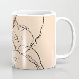 Egon Schiele - Two women embracing Coffee Mug