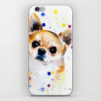 chihuahua iPhone & iPod Skins featuring Chihuahua by Slaveika Aladjova