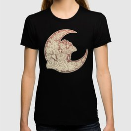 Moth & Moon | Autumn Terra Cotta Palette | Nature Art T-shirt