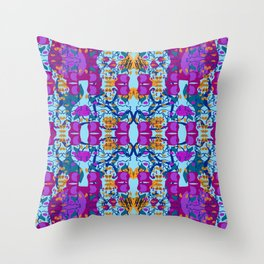 Assorted Floral Layout Under Over Throw Pillow