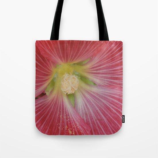 Heart of a Hollyhock Blossom Tote Bag