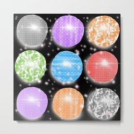 Disco Ball Fever Metal Print
