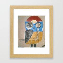Muscial Owl Framed Art Print