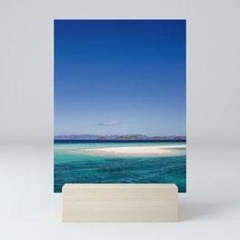 Amazing white beach, blue sea island Philippines | travel photography | art print Mini Art Print