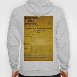1964 Newport Folk Festival Advertisement Poster Ad Hoody