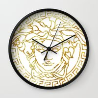 versace Wall Clocks featuring Versace White by InteriorEpiphanies
