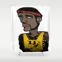 basketball Shower Curtains featuring Basketball  by JBLITTLEMONSTERS