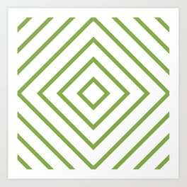 Nested Green Squares Art Print