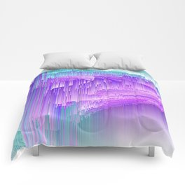 Flame - Pixel sort purple Comforters