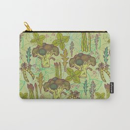 Green vegetables pattern. Carry-All Pouch