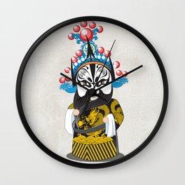 Beijing Opera Character ZhangFei Wall Clock