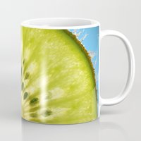 kiwi Mugs featuring Kiwi by Oberleigh Images
