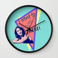 "30 rock Wall Clocks featuring ""I want to go to there!"" (30 Rock) by Galit Zeierman"