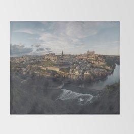Toledo at sunset Throw Blanket