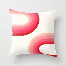 Funky - 70's style trendy throwback retro gifts 1970s abstract art Throw Pillow