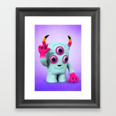 Bull's Eye Pixy Framed Art Print