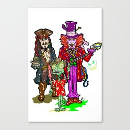 How Depp is your love? Johnny Deep, Jack Sparrow, Mad Hatter, Rango Canvas Print