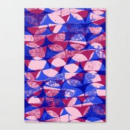 Pink and Blue semi circles - Sarah Bagshaw Canvas Print