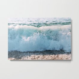 Let's Catch Some Waves Metal Print