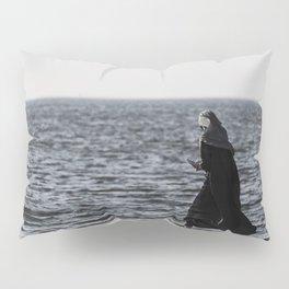 Young muslim girl walking at seaside Pillow Sham