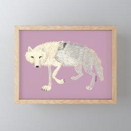 Totem Artic Wolf lilac Framed Mini Art Print