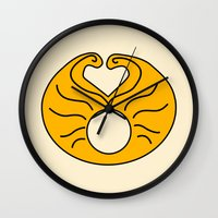 hedwig Wall Clocks featuring Hedwig Wig! by byebyesally