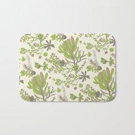 Cream Cradle Flora Bath Mat