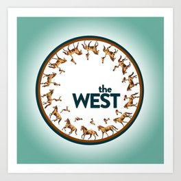 The West Medallion Art Print