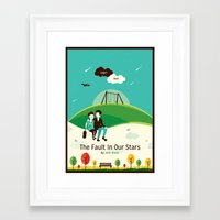 the fault in our stars Framed Art Prints featuring The Fault In Our Stars by Risa Rodil