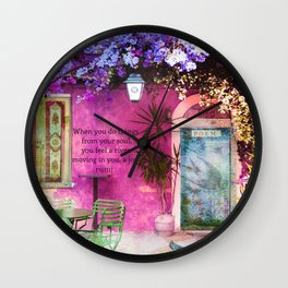 Inspirational Rumi JOY Quote Wall Clock