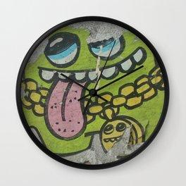 Key West Grafitti Wall Clock