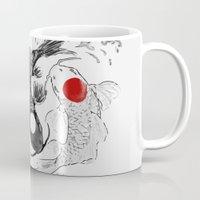 ying yang Mugs featuring Koi fish ying yang by Maioriz Home