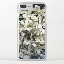 Spinach Tagliatelle Clear iPhone Case