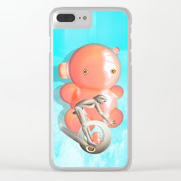 Time Barney girl and horny Robo Clear iPhone Case