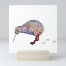 Painted Kiwi Bird Mini Art Print
