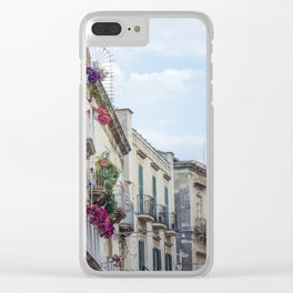 Street in Syracuse, Sicily Clear iPhone Case