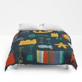 beach gear navy Comforters