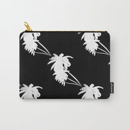 Palm Tree Pattern Black and White Carry-All Pouch