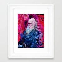 darwin Framed Art Prints featuring Darwin by Angelo Lo Presti