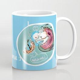 helpful fish bait earthworm cartoon Coffee Mug
