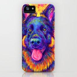 Luminescent - Psychedelic German Shepherd Dog iPhone Case